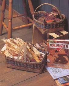 雜誌に掲載されたアメリカン・パイのバスケットとかご-ハートのバスケットとキルトボックス